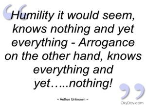 Humility Knows
