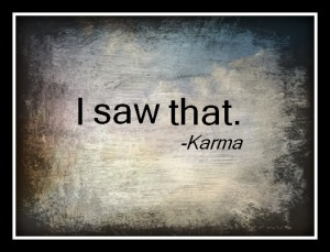 Karma Saw that framed