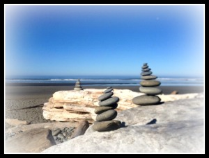 My rock art on Kalaloch Beach