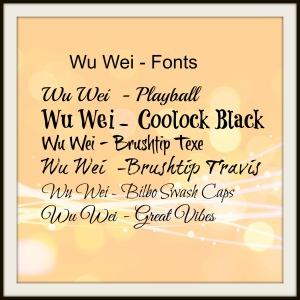 Wu Wei fonts