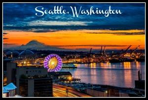 Seattle Sunset3 Framed