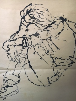 Contour in Ink using a marble