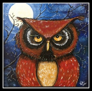 Night Owl in acrylic