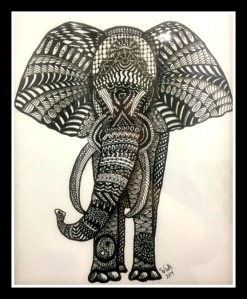 Elephant in Ink - tangled