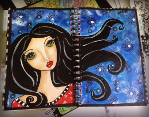 Girl in Art Journal
