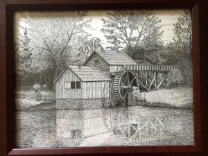 Mabry Mill, VA by freehand Artist Tom Nichols