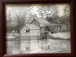 Mabry Mill, VA by freehand Artist Tom Nichols