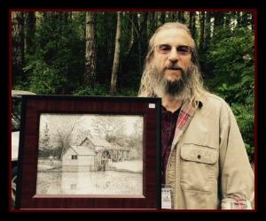 Tom Nichols, Freehand Art Ink of Mabry Mill, VA